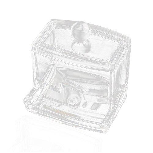 NOCM Clear Acrylic Cotton Swab Q Tip Storage Holder Box Cosmetic Makeup Case