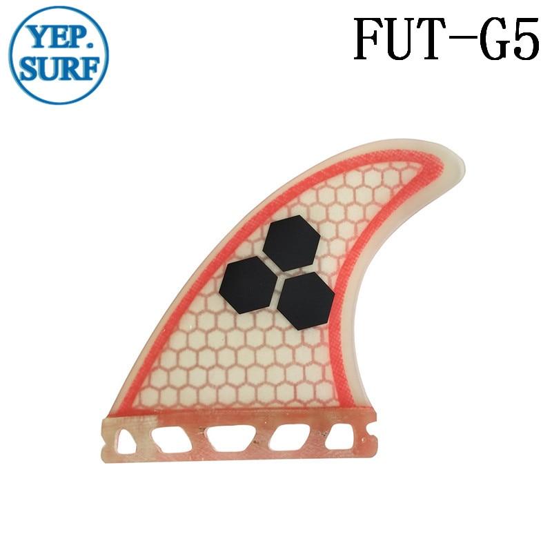 Surfboard Fin Future G5 Fin Quilhas Açıq Qırmızı Fibererglas - Su idmanı - Fotoqrafiya 3