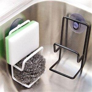 New Arrive Iron Sink Hanging Storage Rack Sponge Drain Rack Bathroom Kitchen Dish Cloth Clip Shelf Drain Dry Towel Organizer(China)