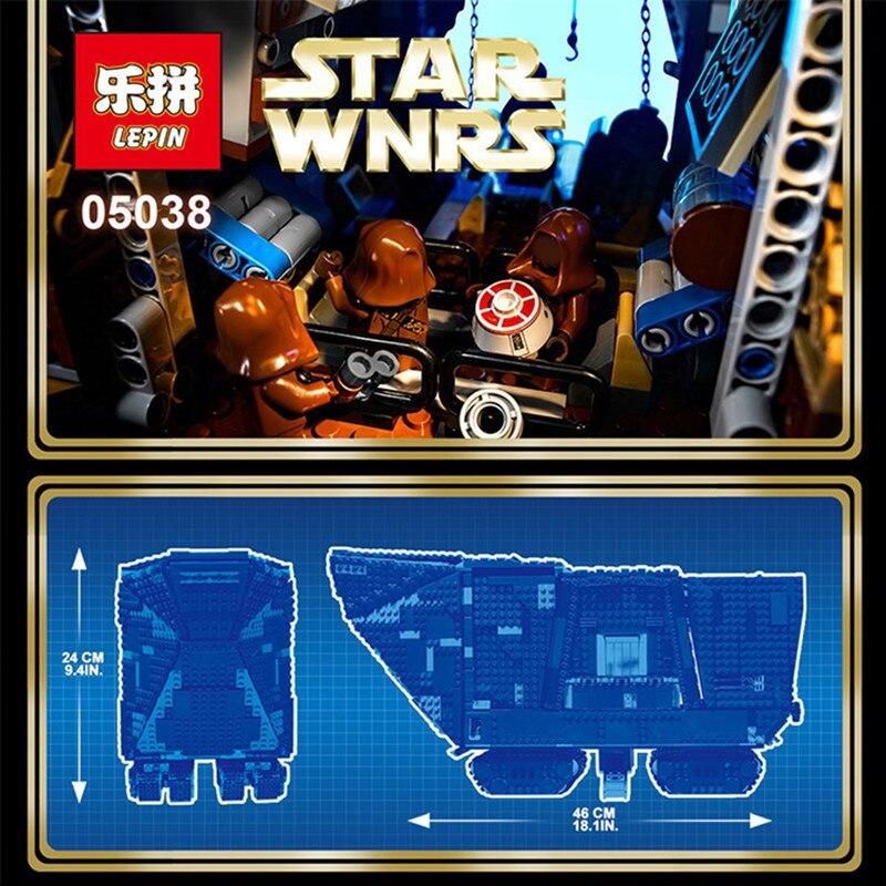 EN STOCK LePin 05038 3346 Unids Star Wars Force Despierta Sandcrawler Modelo Kit