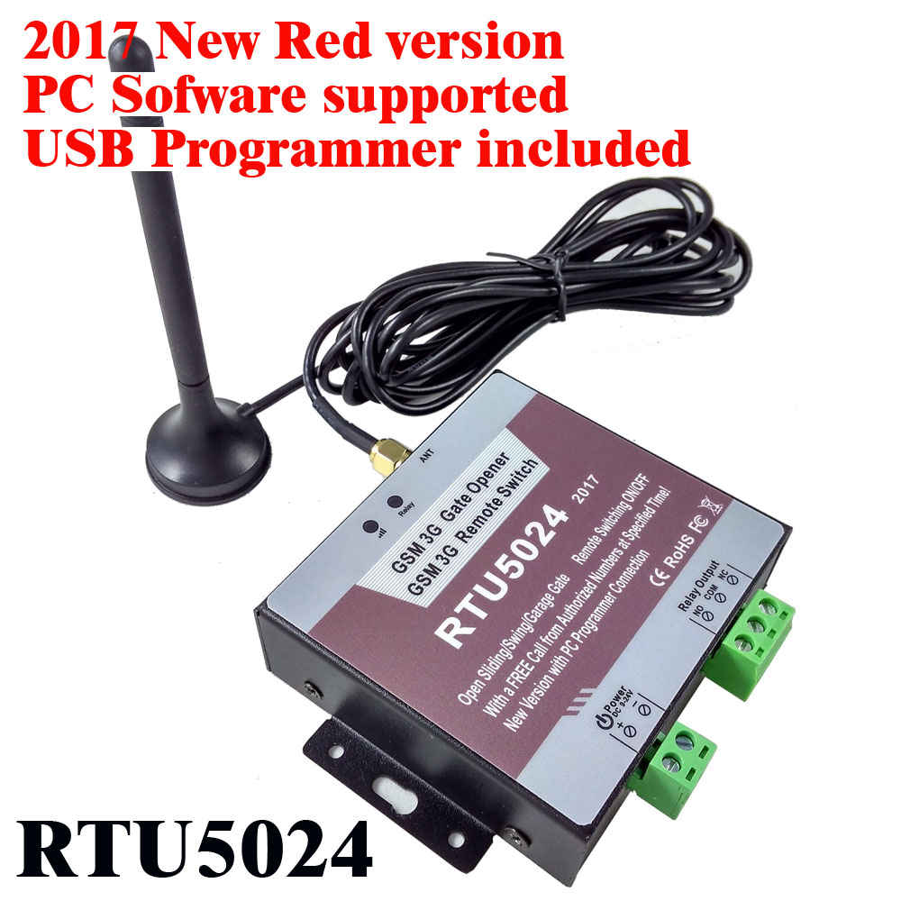Free shipping New RTU5024 GSM Gate Opener Relay Switch Remote Access Control Wireless Sliding gate Opener Android and iphone app number
