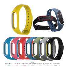 BUMVOR Silicone In stock 1 pcs Replacement Strap For Xiaomi Mi band 2 band2  Bracelet Double Color Wrist Multi-colors