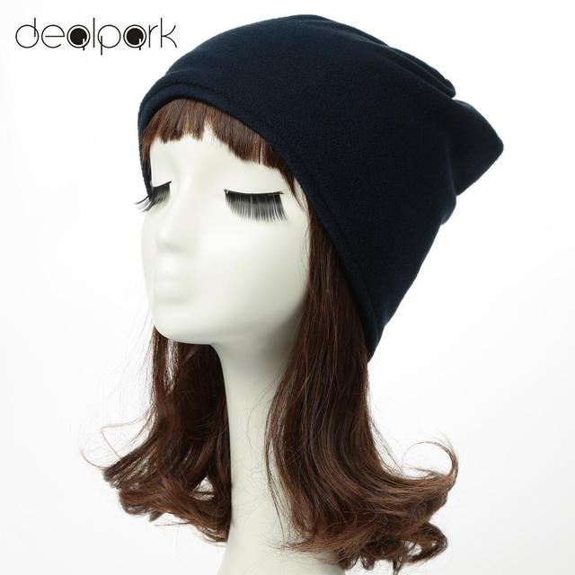 Musim gugur Musim Dingin Baru Wanita Topi Pria Unisex Bulu Topi Topi Warna  Solid Beanie Kopiah e50bc317d8