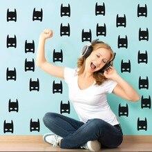 Set Wall Decal Superhero Bat Pattern Mask  Kid Nursery Vinyl DIY Bedroom Living Room Mural Y-73