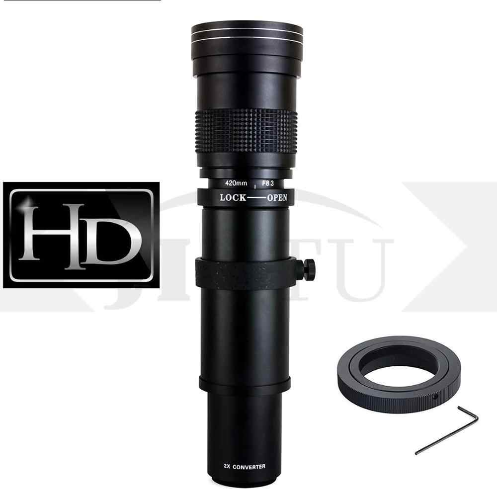 JINTU 420-800mm f/8 3 HD Manual Telephoto Lens for Canon EF-M EOS M1 M2 M3  M5 M6 M10 M50 M100 Mirrorless Cameras Free Shipping