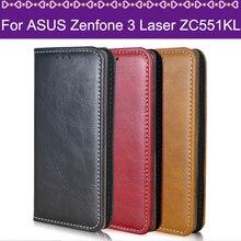 Lamocase телефона чехол для Asus Zenfone 3 Laser ZC551KL 5.5 Бумажник кожаный флип чехол для Asus Zenfone 3 Laser ZC551KL Чехол