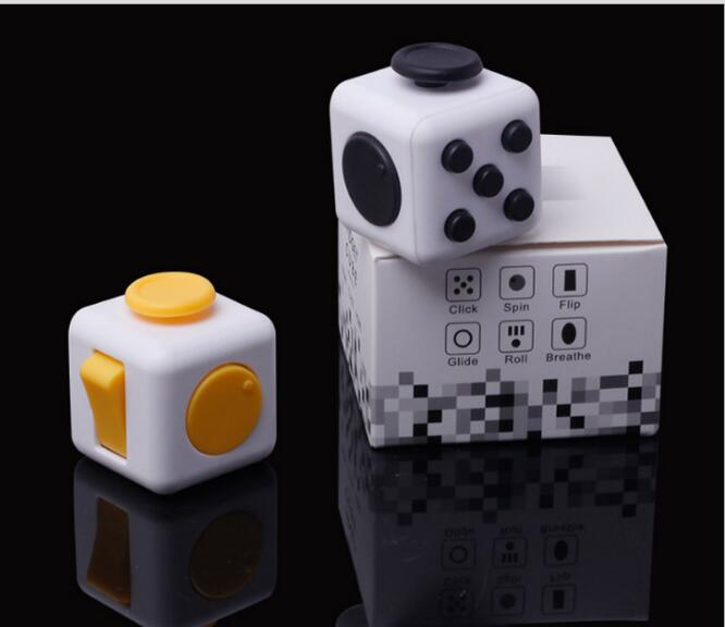 5pcs/Lot Desk Toy Fidget Cube Relieves Anxiety Stress Juguete Adults Squeeze Fun Fidget Cube Desk Spin Toys Special Needs Autism