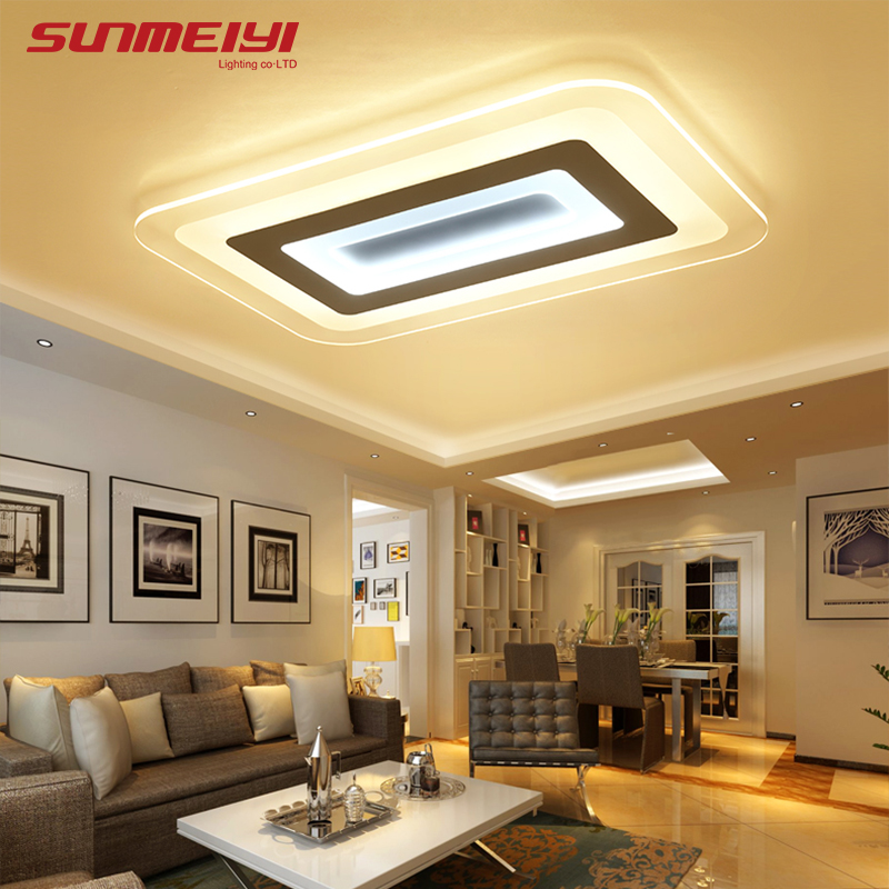 Moderne Led Plafonniers Pour L'éclairage Intérieur plafon led Carré Plafonnier Luminaire Pour Salon Chambre luminaria teto