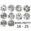 10 шт. Born pretty # BP16-25 Ногтей Штамп Штамповка Изображения Шаблона Плиты Инструмент #17310