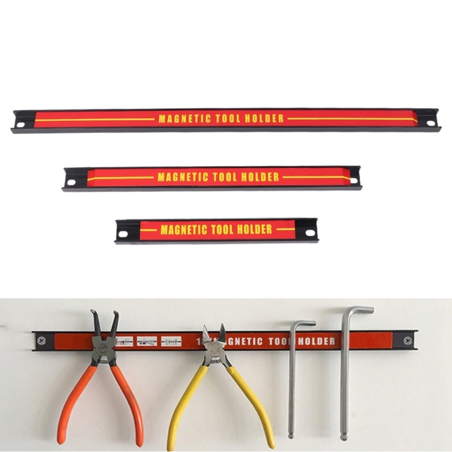 "8 ""12"" 18 ""Magnetic Tool Holder Bar Rack De Armazenamento Organizador Chave Alicate Faca"