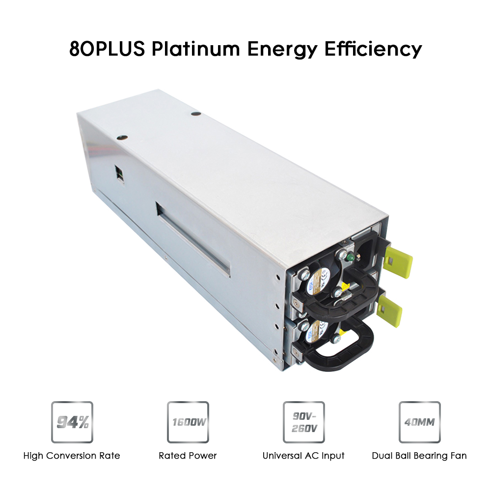1600W Switching Power Supply 94% High Efficiency for Ethereum S9 S7 L3 Rig Mining 90-260V graphics card motherboard bitcoin PC 1800w switching power supply equipment 90 percent high efficiency power supply unit for ethereum s9 s7 l3 rig mining 180 260v