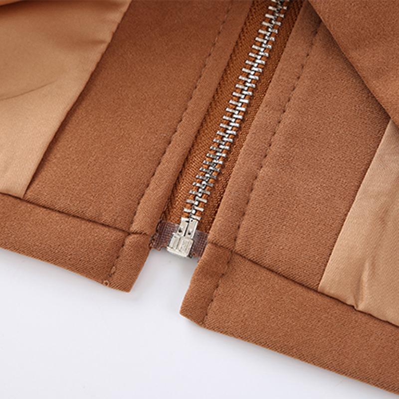 HTB1y2TGgwoQMeJjy1Xaq6ASsFXat - Suede Skirt Fashion High Waist Zippers JKP343