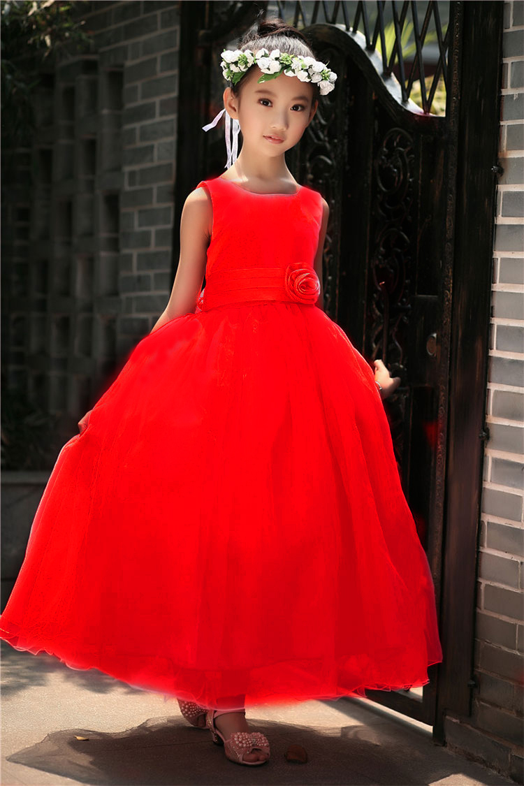 Aliexpress buy summer girl dress wedding flower girl dress aliexpress buy summer girl dress wedding flower girl dress long evening dress for girl childrens clothing formal wear teenager kids party gown from ombrellifo Gallery