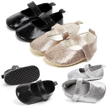 Cute Baby Girls Newborn Infant Baby Bling Casual First Walker Toddler Shoes(China)