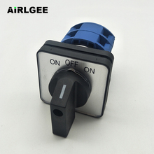 Self-reset AC660V 25A 2 Poles 3-Position Momentary Plstic Rotary Cam Changeover Switch