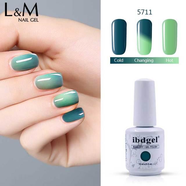 12 pcs UV gel color Temperature Changing Gel Nail Polish Long ...