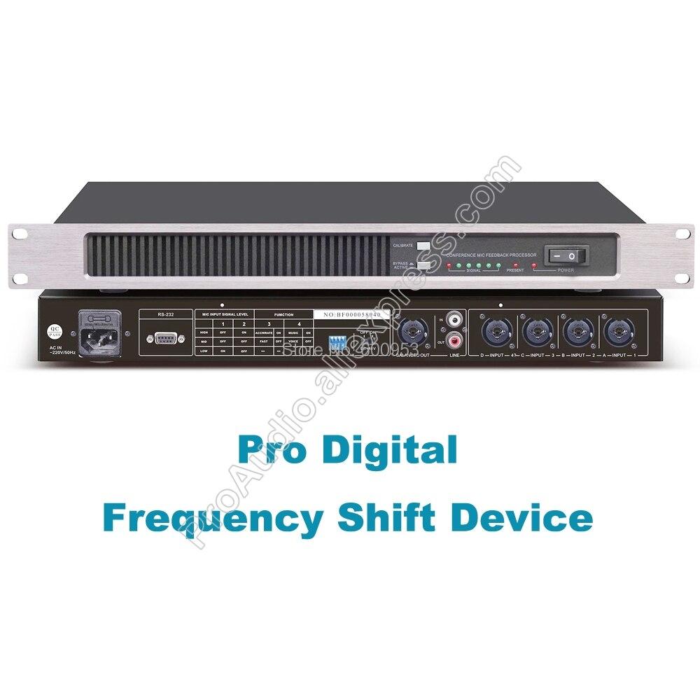 MiCWL R1220 dispositif de décalage de fréquence numérique suppresseur de rétroaction 4 canaux XLR entrée 6.5mm