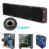 LEORY Copper Computer CPU Water Cooling Radiator Heat Sink 480mm Exchanger Cooler for CPU Heat Sink For PC Laptop Desktop