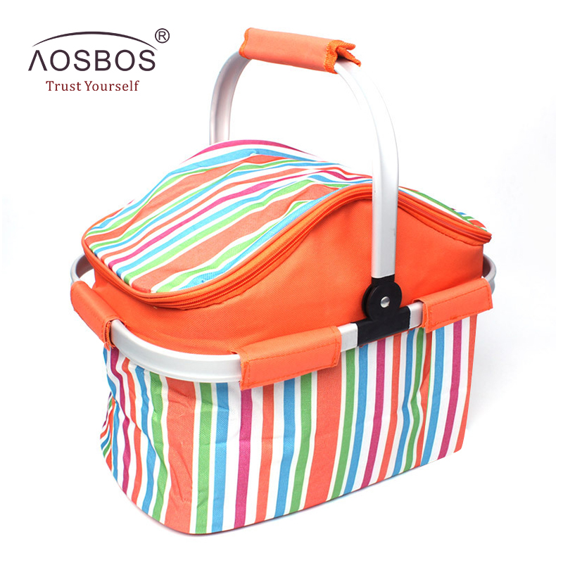 лучшая цена Aosbos 20L Foldable Insulated Lunch Bag for Kids Women Men Waterproof Thermal Lunch Box Cooler Bag Large Capacity Picnic Bags