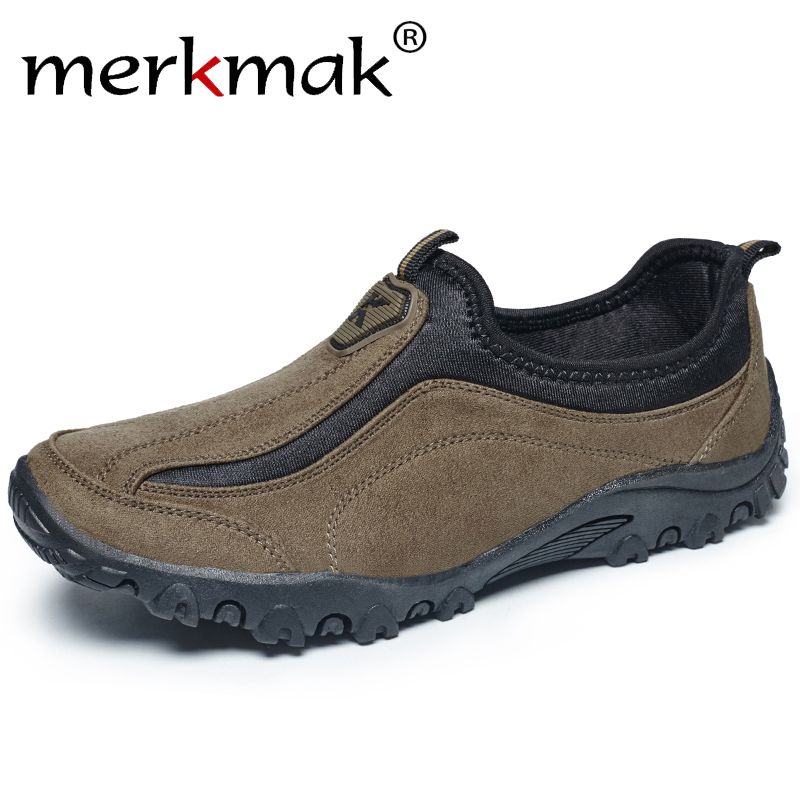 Merkmak Men's   Leather   Casual Shoes Moccasins Men Loafers Brand Spring New Fashion Shoes Sneakers Male Boat   Suede   Shoes