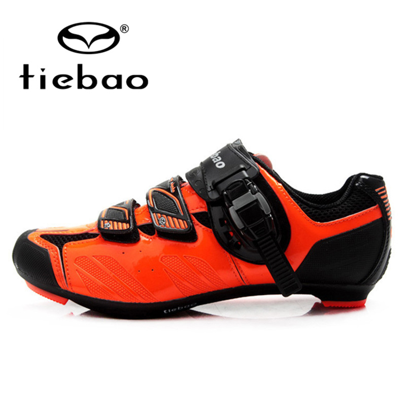 ФОТО TIEBAO Professional Bicycle Cycling Shoes Men Women Racing Road Bike Shoes Breathable Self-locking Shoes zapatillas clismo