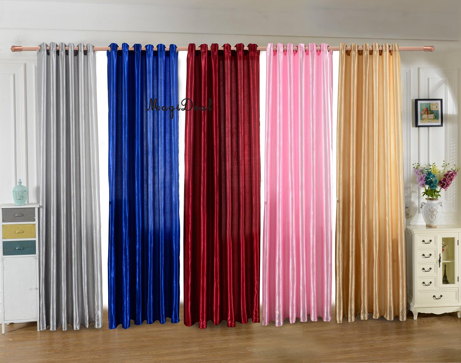 compare prices on modern blackout curtains online shoppingbuy  - magideal modern solid blackout curtains for living room bedroom jacquardwindow room panel shade curtain drape