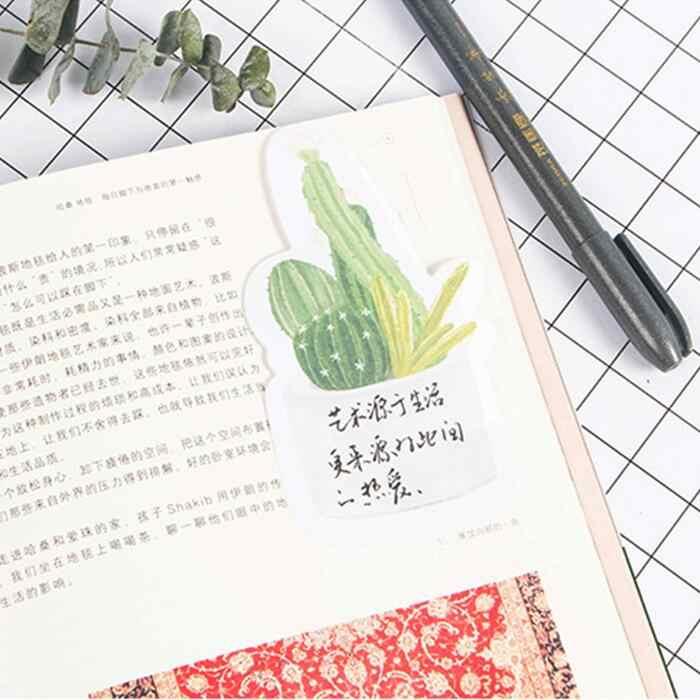 1 ชิ้น/ล็อตแฟชั่นสดแคคตัสกระถางพืชออกแบบ memo pad น่ารักข้อความกาว scrapbooking สมุดบันทึกหมายเหตุกระดาษ