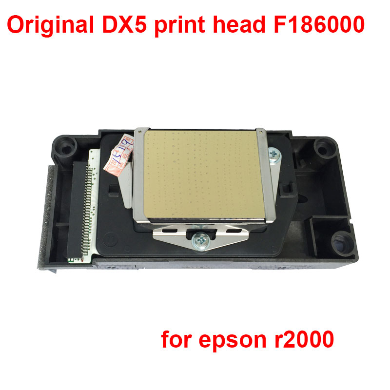 Original DX5 print head  F186000 for epson r2000 printhead solvent secondary locked for Epson stylus pro R1900 R2000 R2880 R2400
