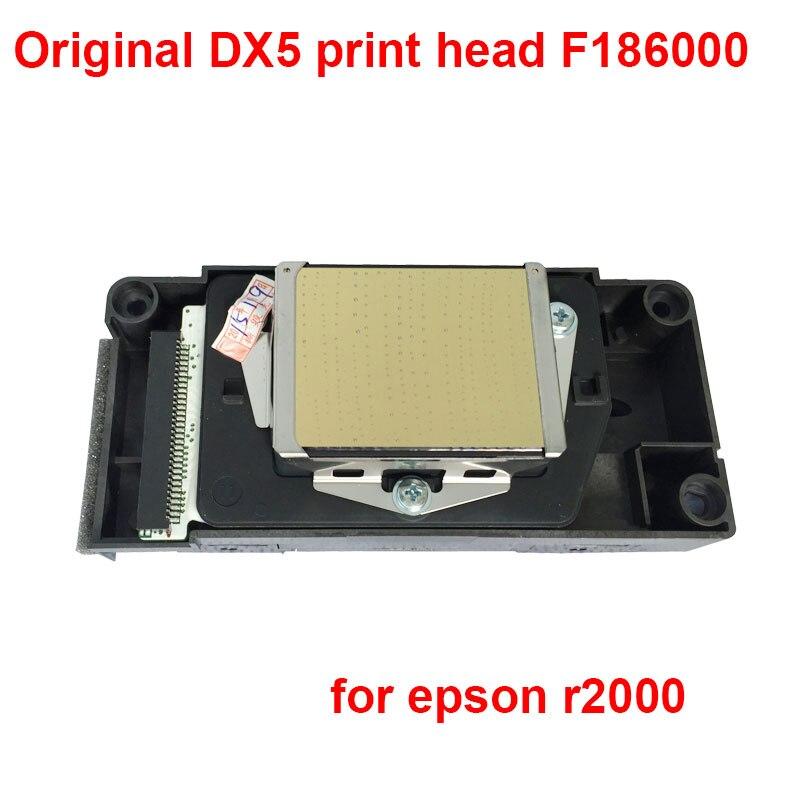 Tête d'impression d'origine DX5 F186000 pour tête d'impression epson r2000 solvant secondaire verrouillé pour epson stylet pro R1900 R2000 R2880 R2400
