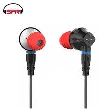 SENFER DT6 1BA + 1DD Гибридный в ухо наушники HIFI DJ работает спортивный ушной наушники с микрофоном Съемная MMCX кабель