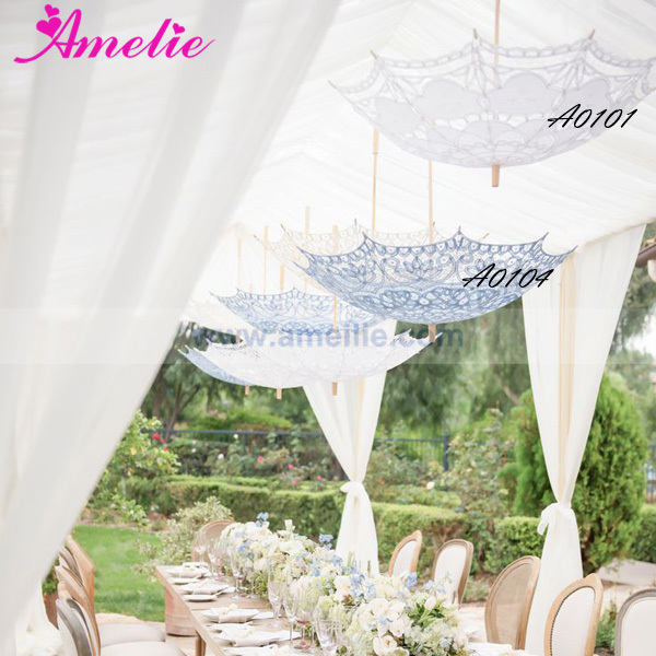 Free Shipping Baby Shower Or Wedding Party Dress Up Lace Umbrella