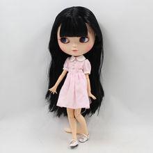 אייס ניאו Blythe בובה שחור שיער אזון Jointed גוף 30cm