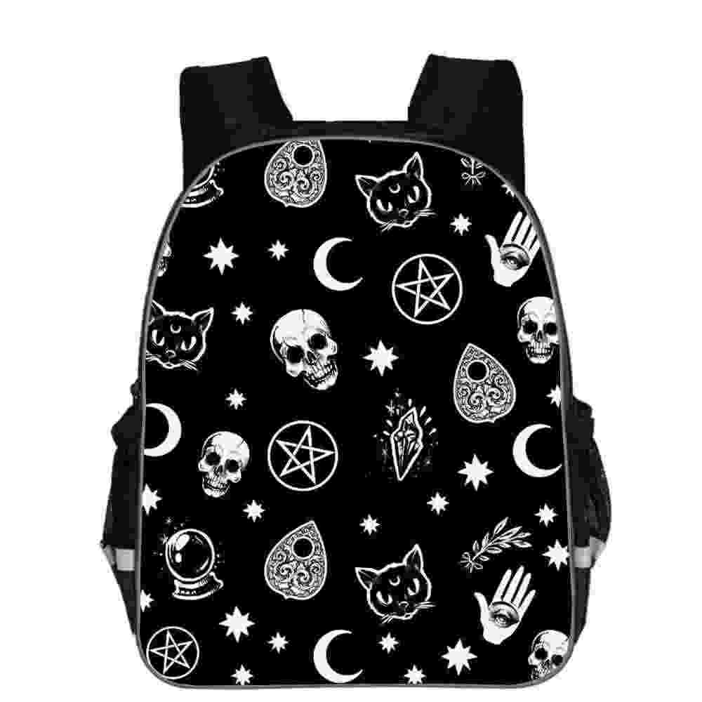 The Witching Hour Backpack Black Cat For Teenagers Boys Girls Toddler Animal Kid School Book Bags Men Women Rock Mochila Bolsa