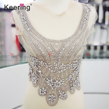 Sexy Rhinestone Beaded patch  For Wedding Dress WDP-002