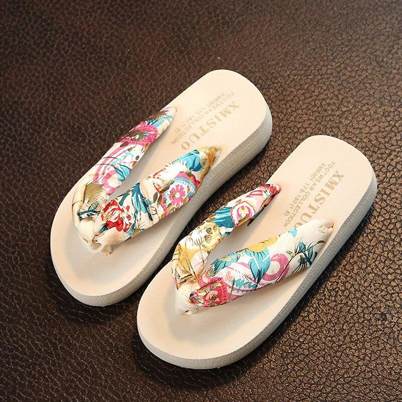 f946d2c78d Parental Slippers Girl Sandals Summer 2018 Flip Flops Beach Sandals Girls Flat  Slippers Children Bohemia Flat