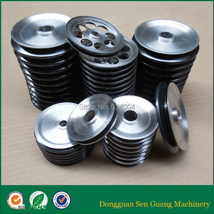 chrome oxide ceramic coating cable guide wheel pulley for steel cable high precious aluminium guide pulleys capstans with coating ceramic