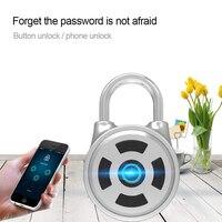 Door Lock Smart Lock Mini Password Keyless Bluetooth Electronic Door Lock Waterproof APP Phone Luggage Padlock Home Safety