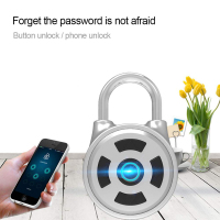 Door Lock Smart Lock Mini Password Keyless Bluetooth Electronic Door Lock Waterproof APP Phone Luggage Padlock Home Safety