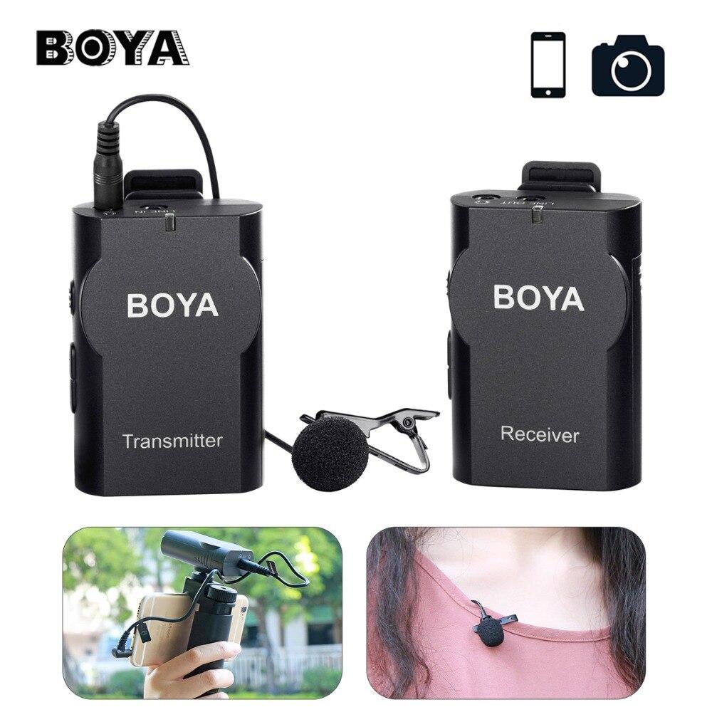 BOYA BY-WM4 Sans Fil Microphone Système Audio Enregistrement Entrevue Revers Mic pour iPhone X Samsung Canon Nikon DSLR Caméra DV Mic