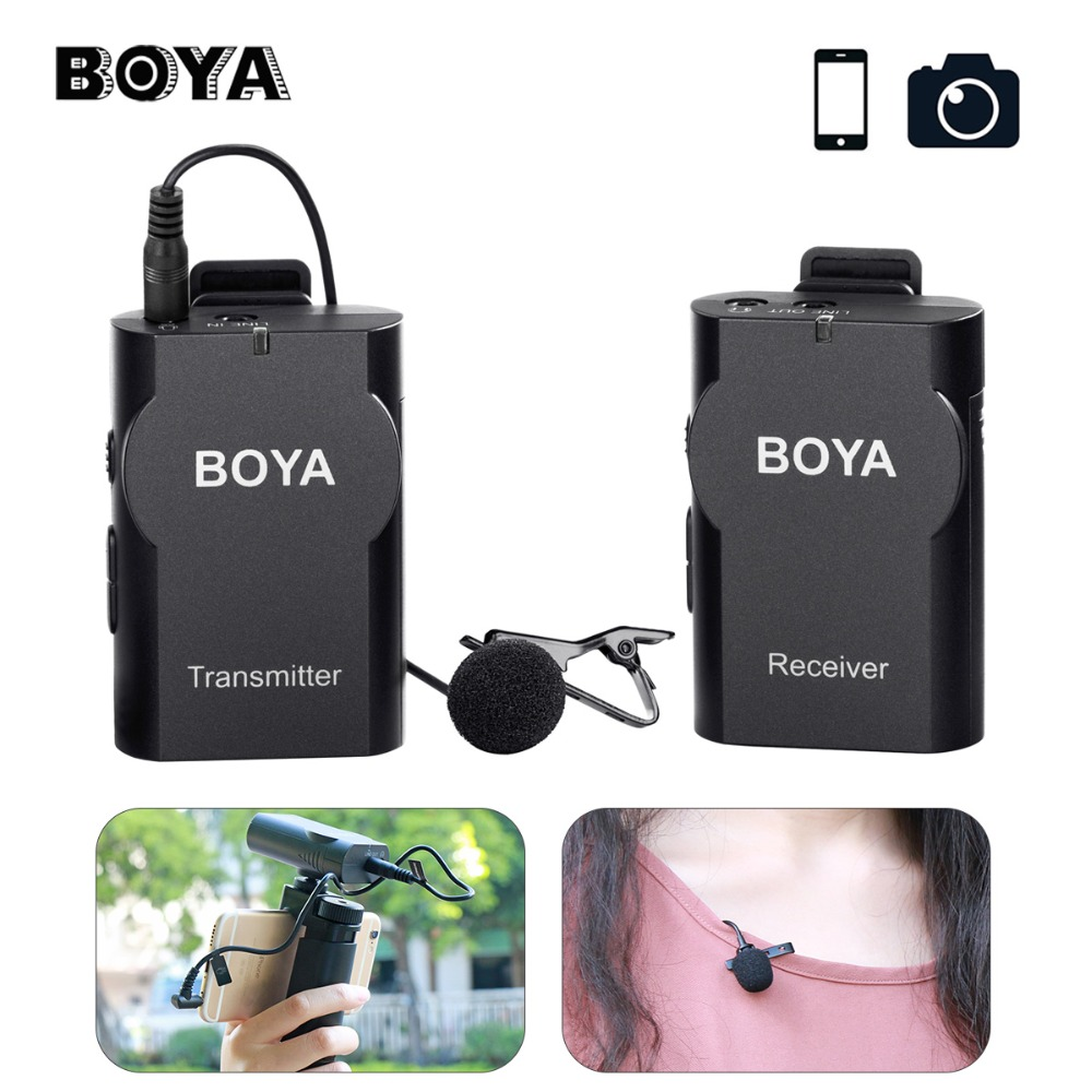 BOYA BY-WM4 Wireless Microphone System Audio Recording Interview Lapel Mic for iPhone X Samsung Canon Nikon DSLR Camera DV Mic пылесос samsung sc24jvnjgbj с мешком сухая уборка 2400вт голубой