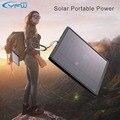 Yfw 12000 mah banco de la energía solar cargador solar panel solar powerbank batería externa para xiaomi iphone 6 s banco de batería universal