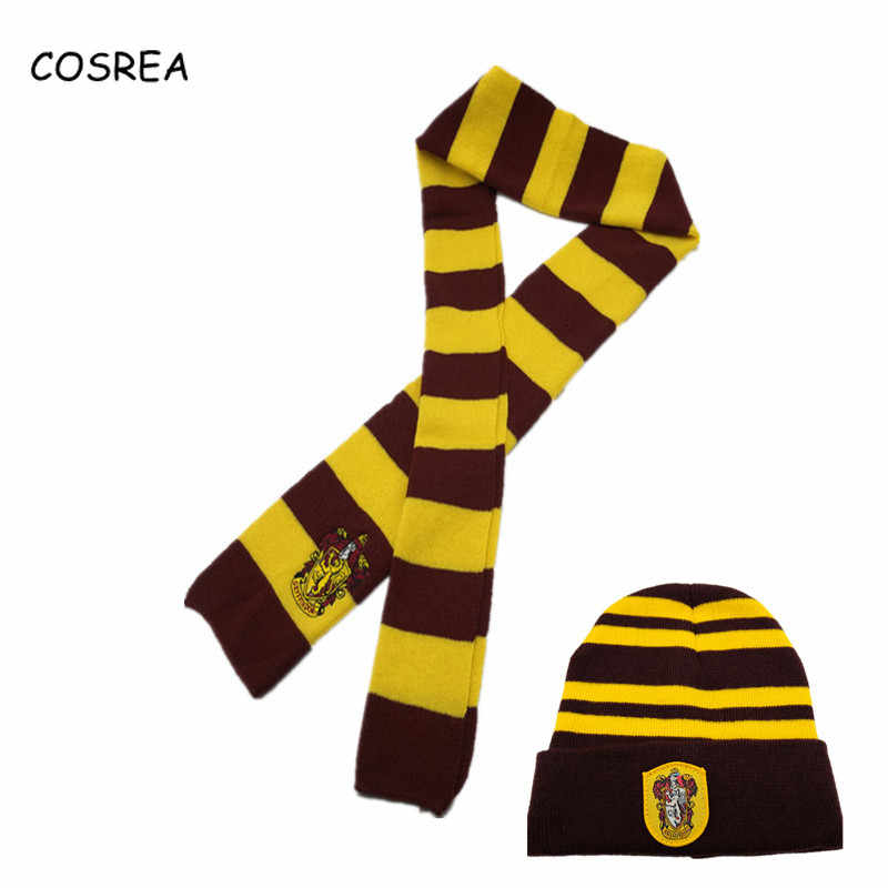 74e5dae8d5d ... Hermione Gryffindor Slytherin Hufflepuff Ravenclaw Scarf+Cap Hat Beanies   ...