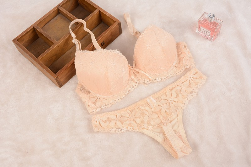 [Cheap]New 16 Lace Embroidery Bra Set Women Plus Size Push Up Underwear Set Bra and Panty Set 32 34 36 38 ABC Cup For Female 6