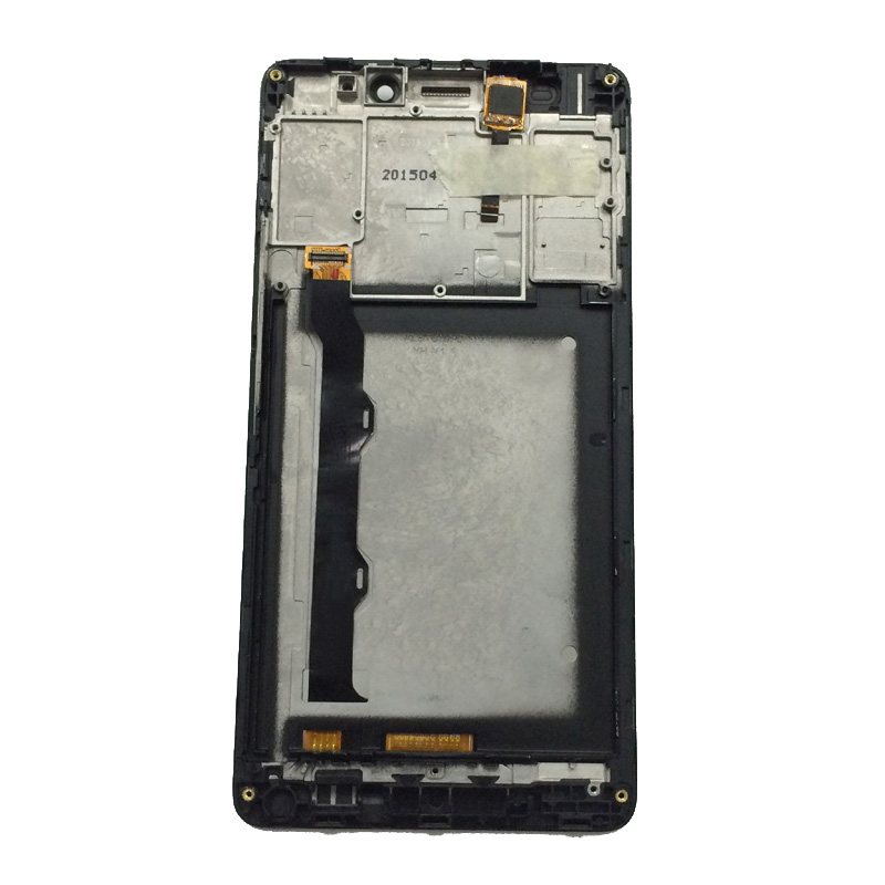 Black/White For Lenovo S8 A7600 A7600M A7600-M Touch Screen Digitizer Sensor Panel Glass + LCD Display Monitor Assembly + Frame