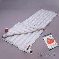 봉투 흰색 다운 AEGISMAX 95% 흰색 거위 UL 겨울 침낭 캠핑 Urltra 컴팩트 초경량 다운 침낭