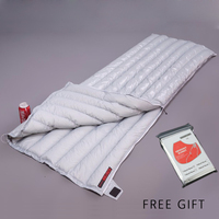 Envelope White Down AEGISMAX 95 White Goose Down UL Winter Sleeping Bag Camping Urltra Compact Ultralight