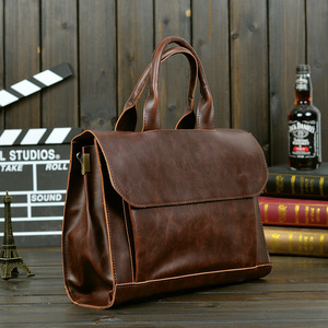 Image 2 - ABDB ETONWEAG eski evrak çantası erkek postacı çantası kahverengi lüks iş evrak çantası avukat Laptop çantası
