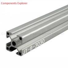 Произвольная резка 1000 мм 3030 алюминиевый экструзионный профиль, серебристого цвета