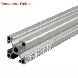 Произвольная резка 1000 мм 3030 алюминиевый экструзионный профиль, серебристого цвета.