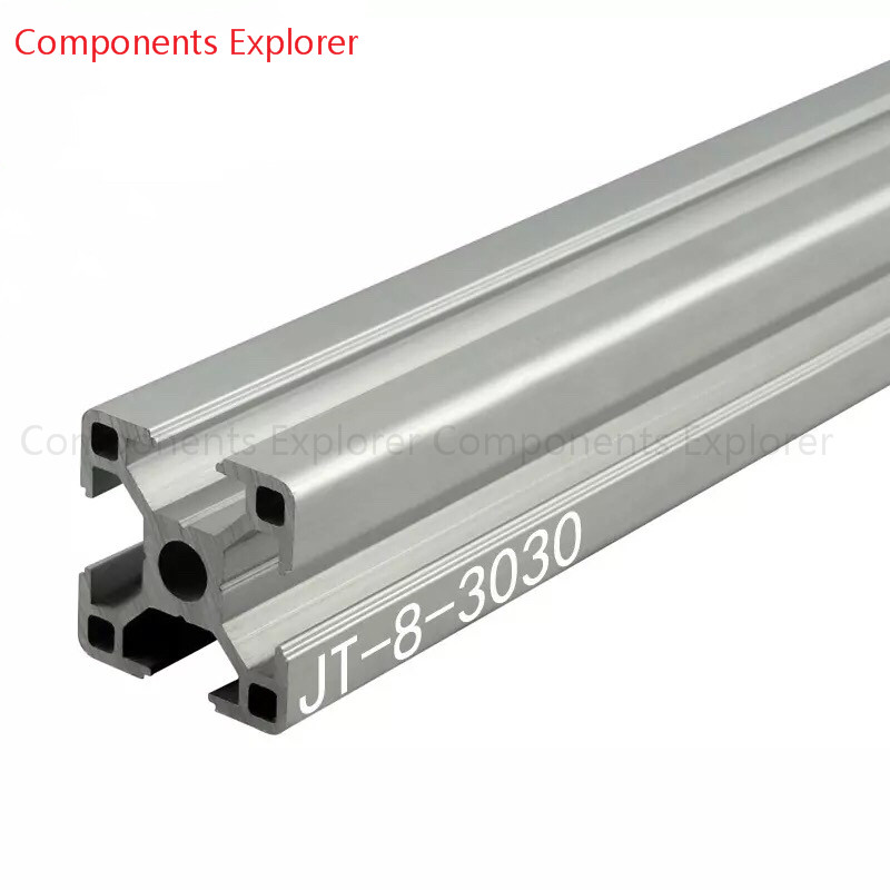 Arbitrary Cutting 1000mm 3030 Aluminum Extrusion Profile,Silvery Color.